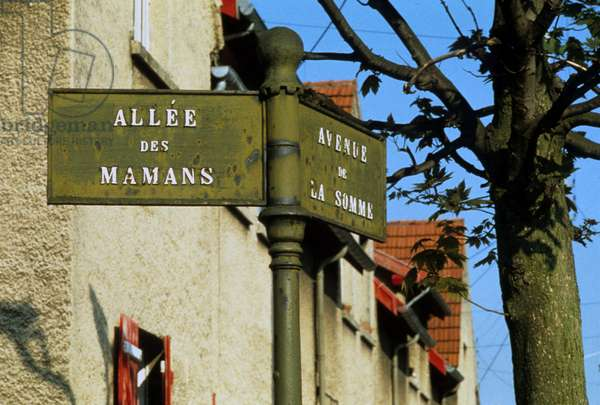 Cite gardens in Reims (Champagne Ardenne).