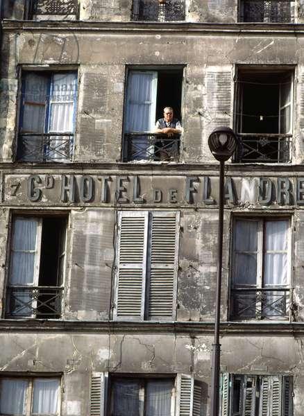Grand hotel in Flanders, rue de Flanders in Paris 19th.