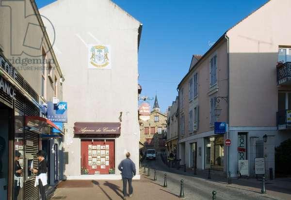 La rue du patron in Verriere le Buisson (Essonne).