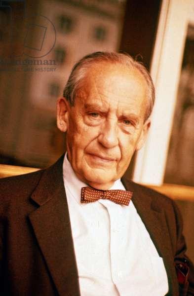 Portrait of Walter Gropius, architect at Unesco in 1959