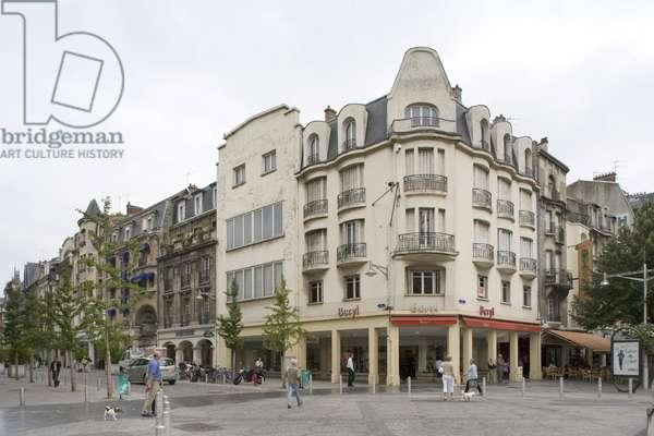 Place Drouet d'Erlon in Reims (Marne, Champagne Ardennes region).