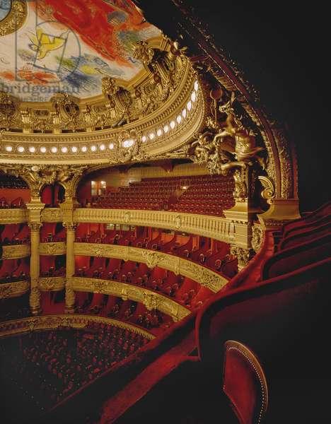 Opera Garnier, 8 rue Scribe, Paris 9. Architecture by Charles Garnier, 1862-1875. Fresco by Marc Chagall