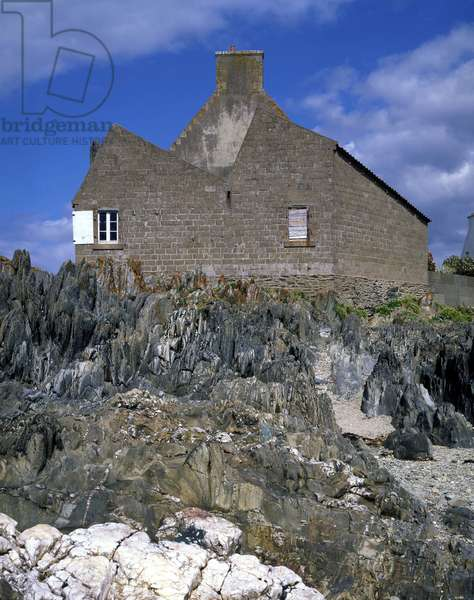 House in Brittany, regional architecture (Cotes D'Armor)