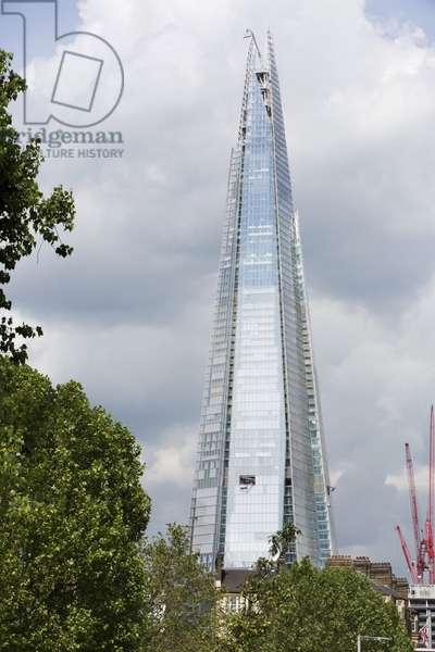 Le gratte-ciel Shard, la plus haute tour d'Europe. Shard London Bridge - 32 London Bridge Street - Londres - Angleterre2012 - Renzo Piano -