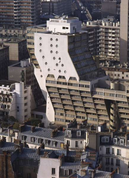 The organs of Flanders in Paris 19th. Construction 1972-1977, architect Martin Van Treck. Photography 1988.