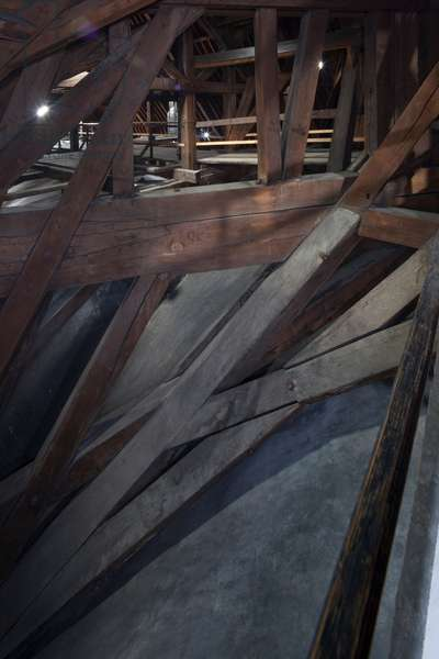 The northwest corner of the stool of the arrow of the crossing of the transept Cathedrale Notre Dame de Paris