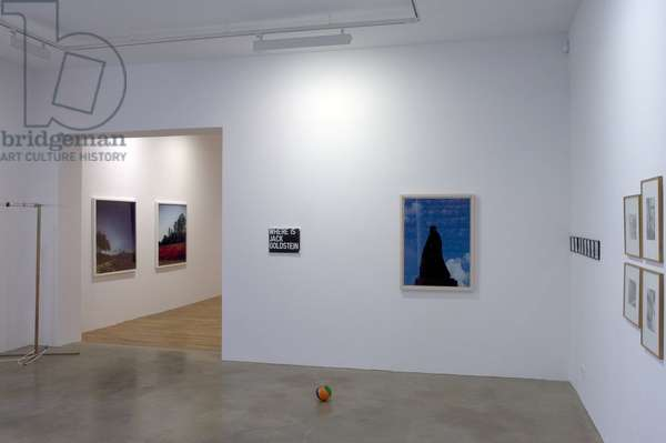 Galerie Chantal Crousel, 10 rue Charlot, Paris 3rd arrondissement. In the foreground, a photograph of Anri Sala. In the background, two photographs of Darren Almond. Photography 17/09/05.