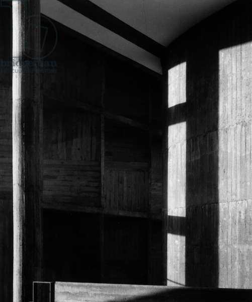House of the Milowner building in Ahmedabad, India. Architect Le Corbusier (1887-1965), 1956. Photography 21/10/55.