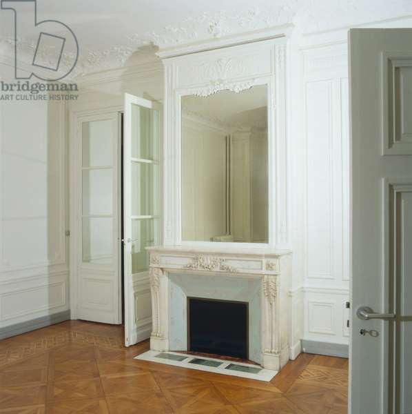 Interior of a Haussmann building in Paris.