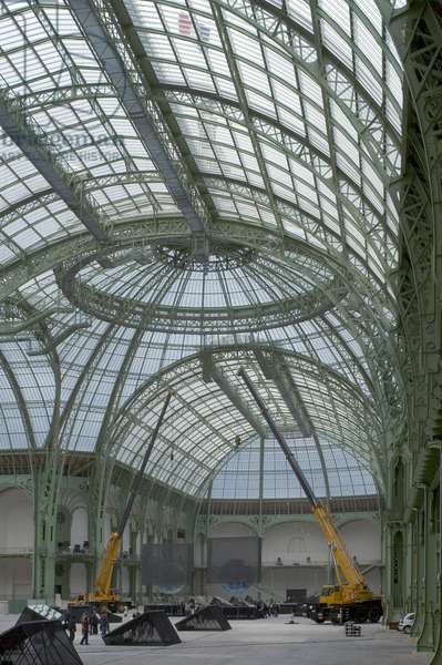 Le Grand Palais, avenue Winston Churchill in Paris 75008. Architect Charles Girault (1857-1932), 1900. photography 17/09/05.