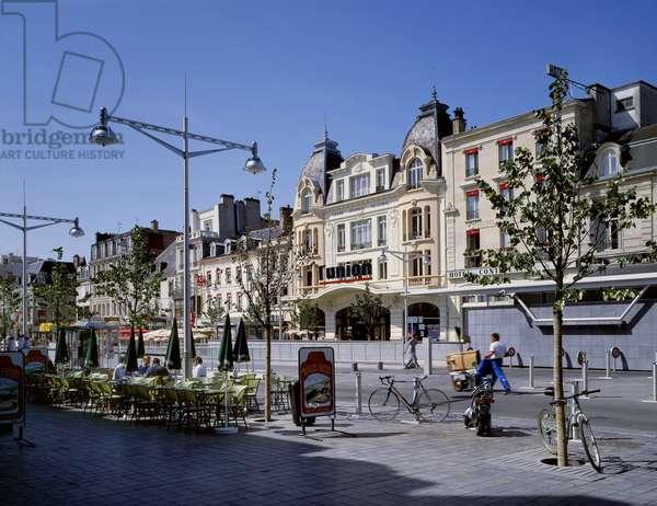 Place d'Erlon in Reims (Marne, Champagne Ardennes region)