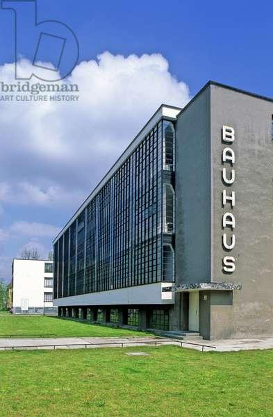 The Bauhaus has Dessau (Germany). Architect Walter Gropius (1883-1969), 1925. Photography 15/04/98.