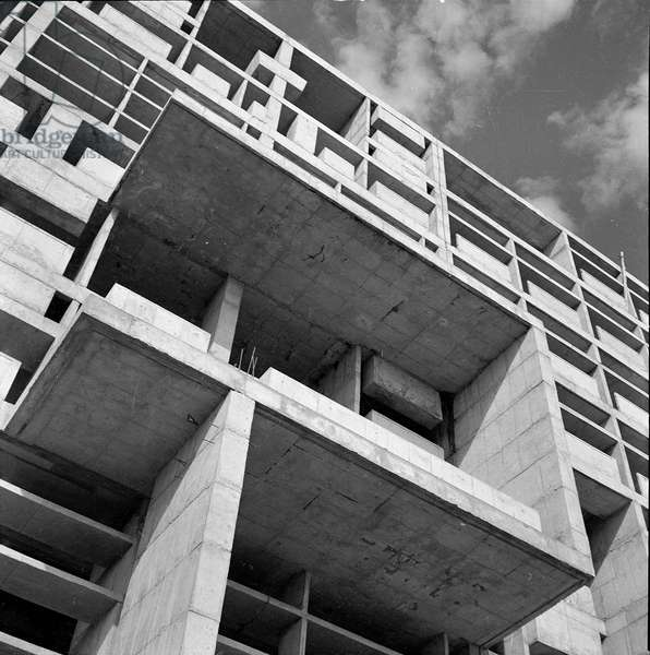 The Secretariat of Ministers in Chandigarh, India. Architect Le Corbusier (1887-1965), 1951-1958. Photography 20/10/61.