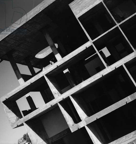 Villa Shodhan in Ahmedabad, India. Architect Le Corbusier (1887-1965), 1955. Photography 20/10/55.