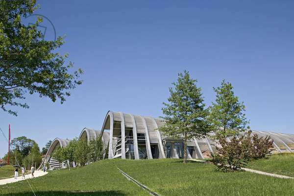 Paul Klee Centre in Bern, Switzerland. Architect Renzo Piano, 2005. Photography 19/06/05.