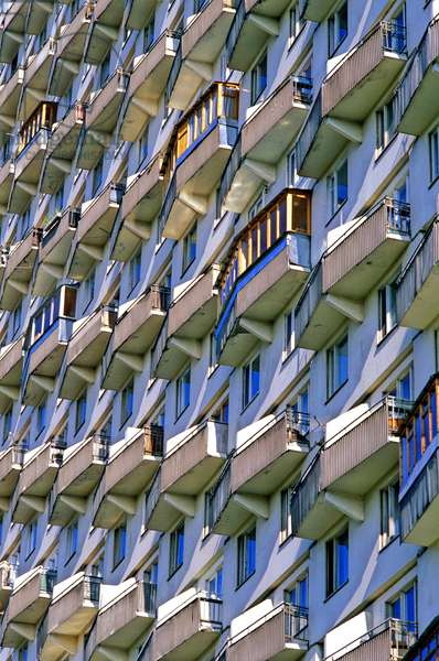 Housing building (Housing building) in Moscow Graphic effect, Russia.