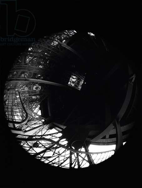 The Eiffel Tower in Paris, seen by the fish eye.