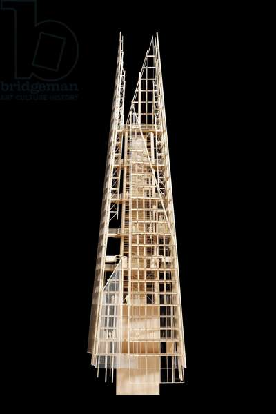 """The model of the tower """""""" The Shard"""""""" by Renzo Piano, 32 London Bridge Street, London, England. Photography 21/11/09"""