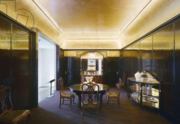 The dining room Jeanne Lanvin at the Musee des Arts Decoratifs, 107 rue de Rivoli, Paris 75001. Architecture by Bernard Desmoulin and Bruno Moinart 2006. Photography 10/09/06