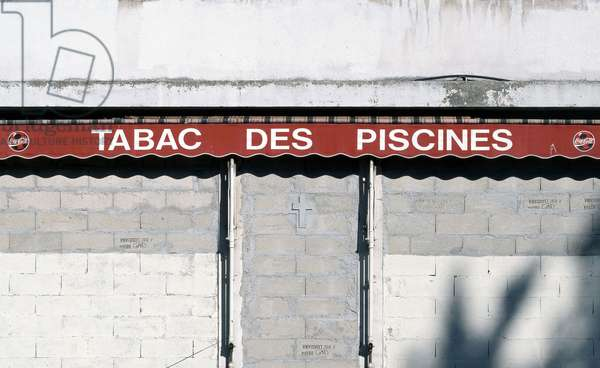 """Pool tobacco sign. Published in """""""" Petites agonies urbaines"""""""" published in 2006 by the editions Le bec en l'air."""
