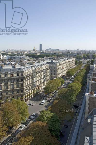 Avenue George V and the bridge of the Alma in Paris.