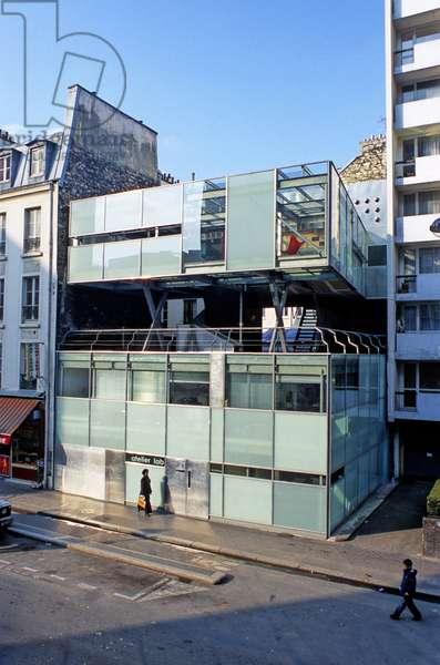 Atelier Lab, 21 rue de Tanger, Paris 75019. Architecture Christophe Lab, 2001. Photography 04/06/01