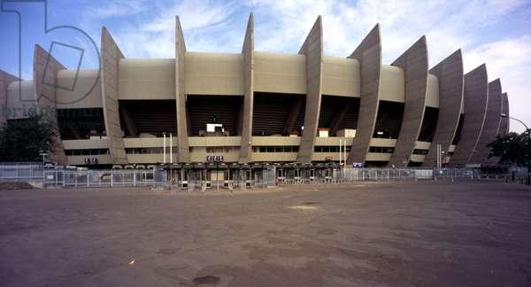 The Parc des Princes in Paris 16th. Construction 1972, architect Roger Taillibert. Photography 18/06/05.