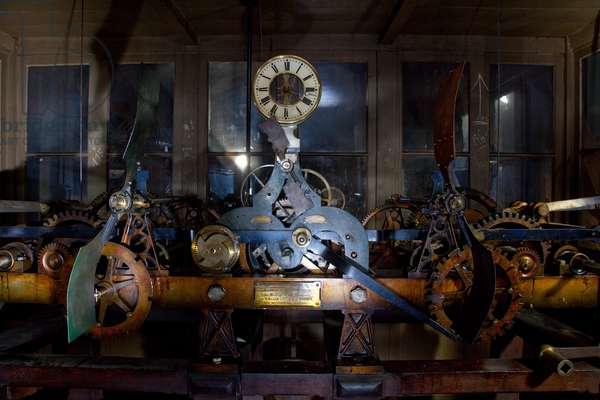 Mechanism of the clock of the cathedral of Notre Dame de Paris