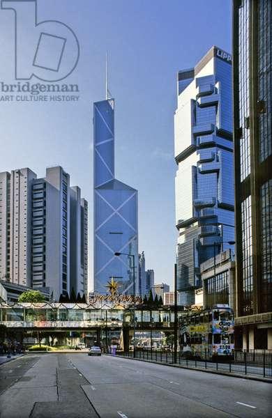 Bank of China, Victoria Island, Hong Kong, China. Architect Ieoh Ming Pei, 1982-1990.
