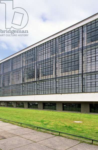 The Bauhaus has Dessau (Germany). Architect Walter Gropius (1883-1969), 1925. Photography 15/04/98.