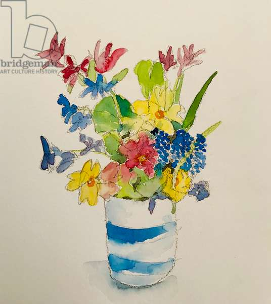 Spring flowers II, 2020, (watercolour)