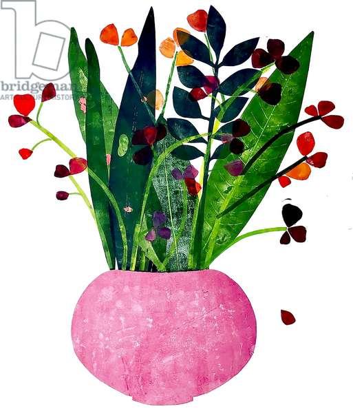 Pink pot ,2020 (monoprint)