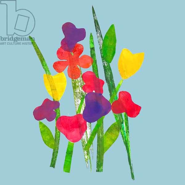 Blooms,2019 (Ink monoprint)