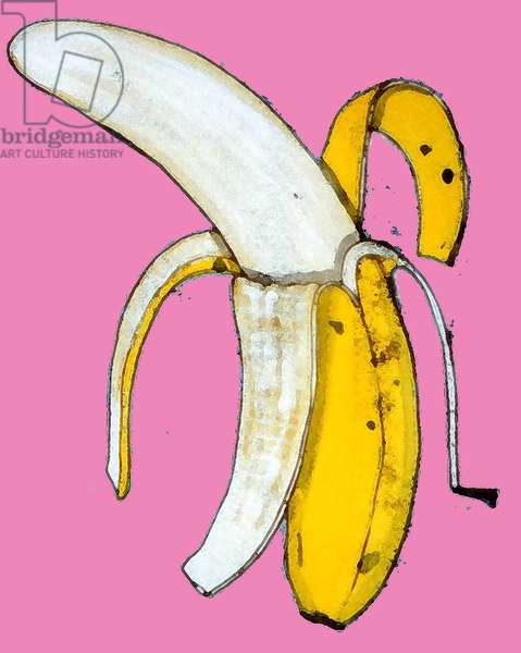 Banana, 2014 (monoprint with ink)