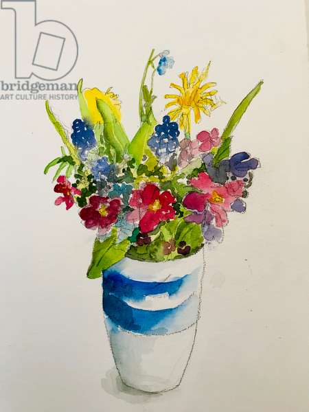 Spring flowers ,2020,(watercolour)