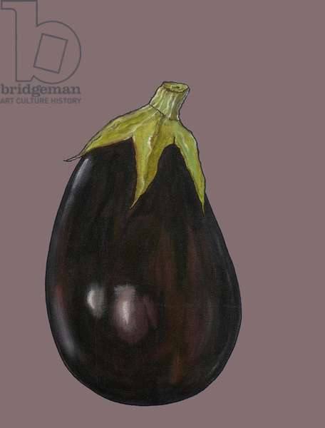 Aubergine, 2003 (oil sticks & pastels on paper)