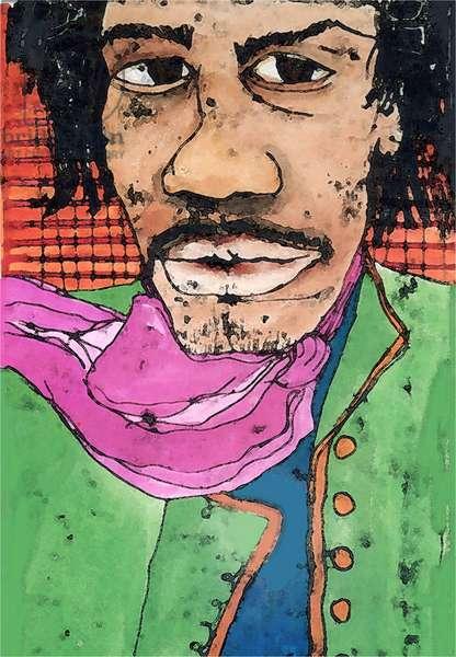Hendrix (ink on paper) 2020