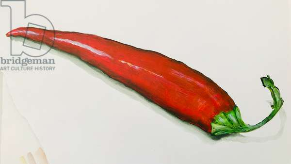 Red chilli pepper ,2020, (acrylic)