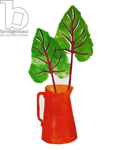'Red jug' (monoprint) 2020