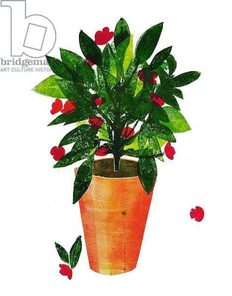 Orange pot 2020 (monoprint)