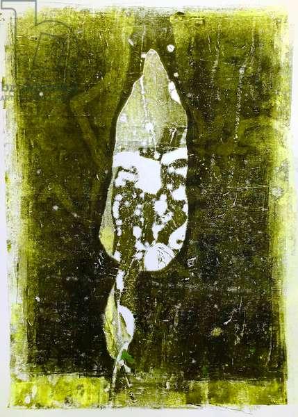 'Abstract leaf'2020 (monoprint)