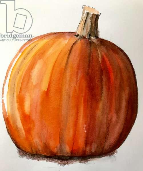 Pumpkin,2020,(watercolour)