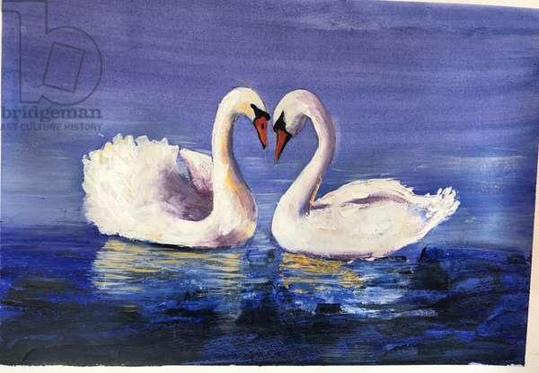 Swans, 2019 (acrylic)