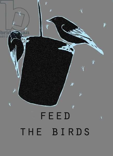 Feed the birds,2018,(digital drawing)