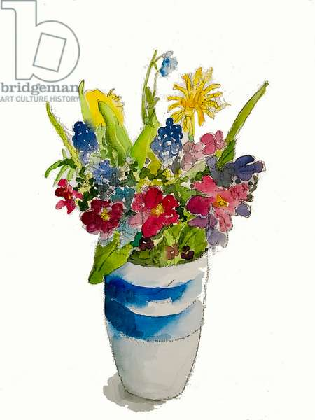 'Posy of flowers',2020 (watercolour)