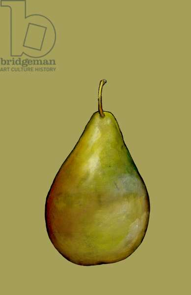 Pear,2015,(oil sticks and pastels on paper)