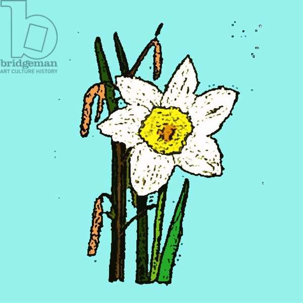 Daffodils, 2015 (monoprint)