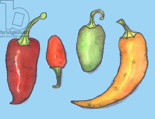 Chilli peppers,2013,(monoprint)
