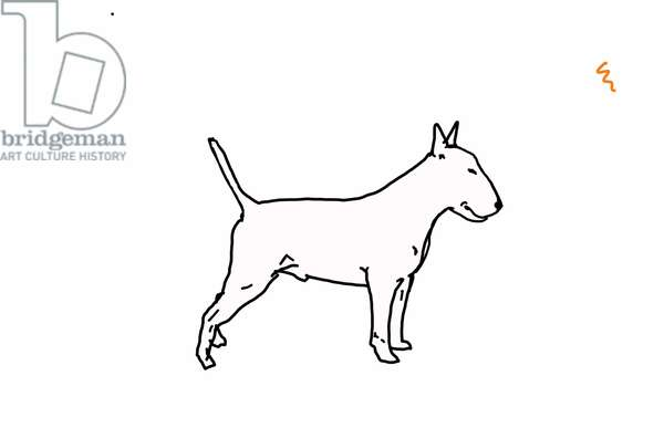 Bull terrier,2018,(digital drawing)