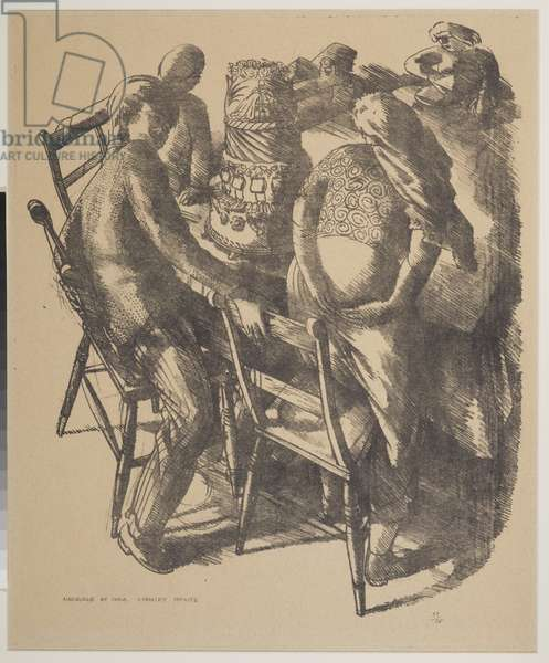 Marriage at Cana, Bride and Bridegroom, 1953 (litho)